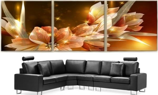 Tří dílný skleněný obraz na stěnu